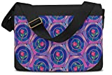 Stained Glass Rose Disney Inspired Messenger Bag - One Size Messenger Bag