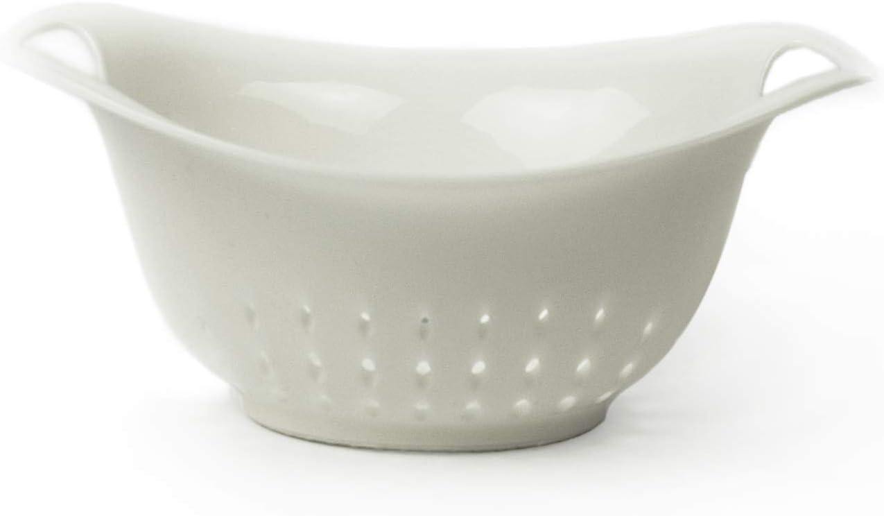 Architec Prep Colander, 1 Qt, White, Dishwasher Safe BPA-free Plastic, Patented Non-slip Gripper Feet