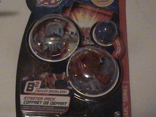 Bakupearl Starter Pack - Bakugan Bakupearl B2 Series Starter Pack Red Limulus Gray Hammer Gorem 530 Blue Skyress 3 Ability Cards and 3 Metal Gate Cards
