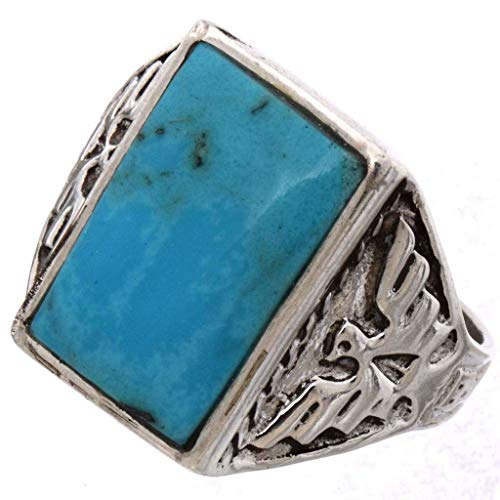 Turquoise Thunderbird Mens Ring Size 9 to 12-1/2 1700