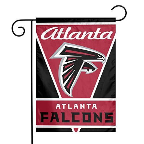 Atlanta Design - Sorcerer Design Colorful Garden Flag American Football Team Atlanta Falcons Outdoor House Yard Flag Polyester Indoor Banner for Wedding Party Decor 12 x 18 Inches
