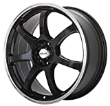 Maxxim Knight Black Wheel with Machined Lip (15x6.5''/5x100mm)