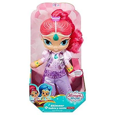 Shimmer y Shine Genio Shimmer habla y canta, muñeca con sonidos (Mattel FPP37): Juguetes y juegos