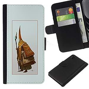 JackGot ( Asistente Viejo ) Sony Xperia Z4v / Sony Xperia Z4 / E6508 la tarjeta de Crédito Slots PU Funda de cuero Monedero caso cubierta de piel