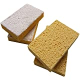 Hulless (Set of 4) Sponges Scrubbers, Kitchen Cleaning Utensil, Made From Tough Cellulose.