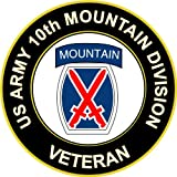"5.5"" US Army 10th Montain Infantry Division Veteran Decal Sticker"