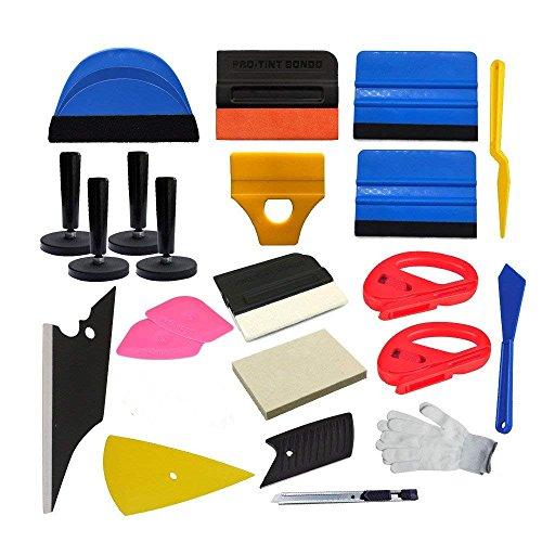 CARLAS Economy Combo Pro Tool kit Car Vinyl Wrap Squeegee (Vinyl Graphic Kits)