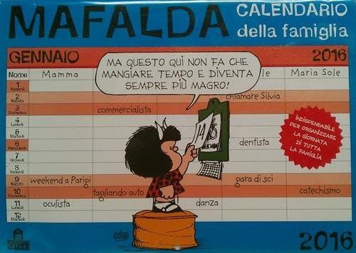 Mafalda Che Stress! Calendario Famiglia 2016