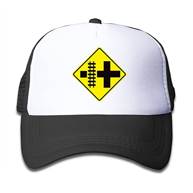 71d789be977 Amazon.com: POH08dg Kids Boys Girls Baseball Cap, Railroad Crossing ...