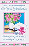 With Love Granddaughter - On Your Graduation Greeting Card - ''Wishing you a future that is as wonderful as you are'' Graduate Celebration Pride Accomplishments Happiness