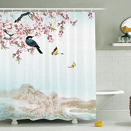 Sun Banderas Decoracion Mueble Resistente A La Tela Cortina De Ducha - Duchas-y-baeras