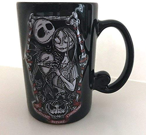 (Disney Parks Nightmare Before Christmas Jack Sally Romantic Ceramic Mug 12 ounce)
