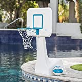 Highest Rated Most Popular Selling Portable Swimming Pool Basketball Court- Overhanging Backboard- Complete Steel Rim -Perfect for Pool Party- Perfect for Basketball Training -Best Pool Court Cou