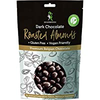 Dr Superfoods Dark Chocolate Coated Roasted Almonds, 125 g