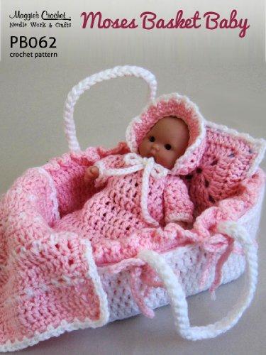 Crochet Pattern Basket (Crochet Pattern Moses Basket Baby PB062-R)