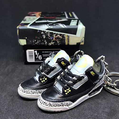 53b2d5e4a336 Pair Air jordan III 3 Retro Oregon Duck Pit Crews PE Cement Sneakers Shoes  3D Keychain