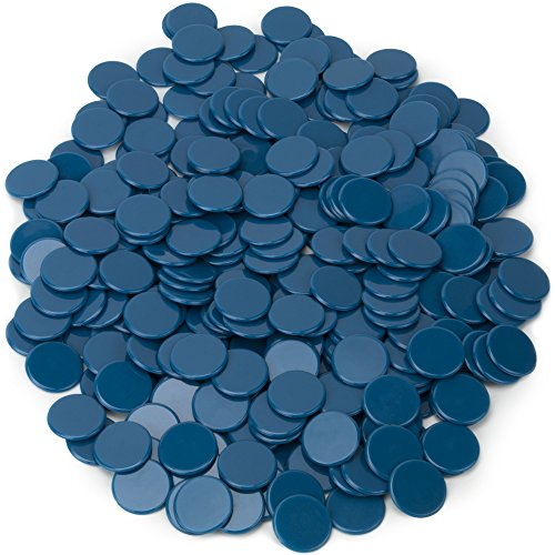 300-packソリッド不透明の3/ 4インチBingo Chips   Great教室のカウントと数学活動by Royal Bingo Supplies ブルー