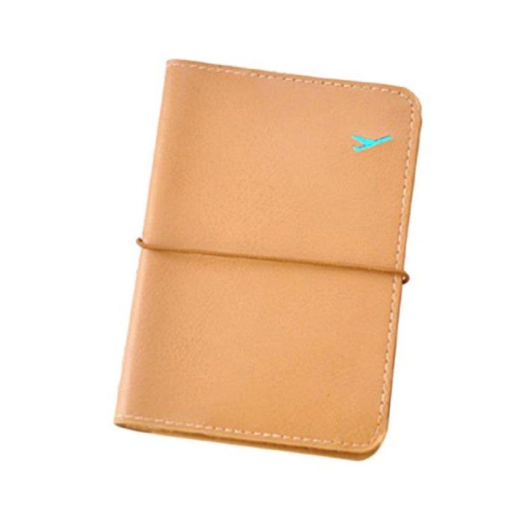 SMTSMT Travel Leather Passport Holder Card Case (Brown)