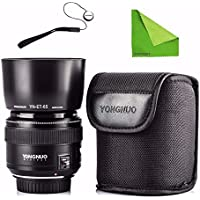 YONGNUO YN85mm F1.8 Lens AF / MF Standard & Medium Telephoto Prime Lens fixed focus lens For Canon EF Mount Camera w/ EACHSHOT Anti-lost Strap & Cleaning Cloth