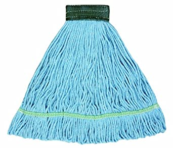 "Wilen A02601, J W Atomic Loop Wet Mop, Small, 5"" Mesh Band, Blue (Case of 12)"