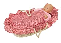 Goki Puppets Carrying Basket with Bedding Doll