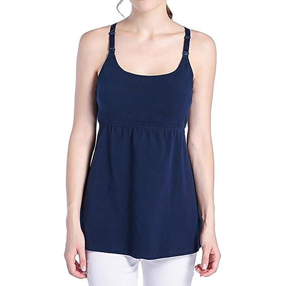Gusspower Chaleco de Maternidad Tank de Lactancia Sujetador para Camiseta para Mujer/Top Premamá: Amazon.es: Ropa y accesorios