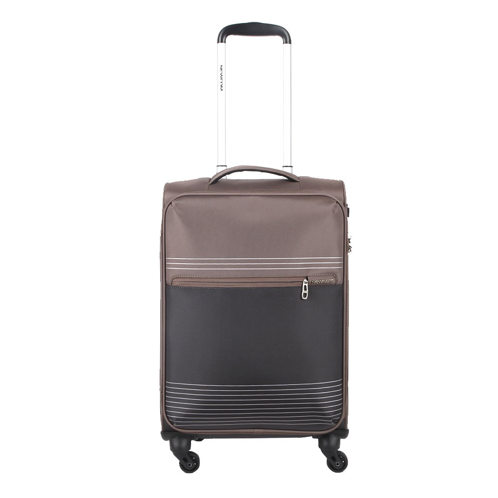 Newcom Soft Trolley Suitcase Lightweight 4 Wheels,28 inches
