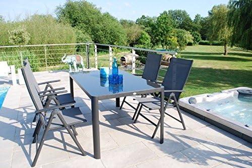 Royal Garden juego de reclinable de aluminio 4 asiento muebles de jardín de patio: Amazon.es: Jardín