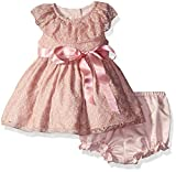 Laura Ashley London Baby Girls' Ruffle Collar Dress, Mesh, 6/9 Months