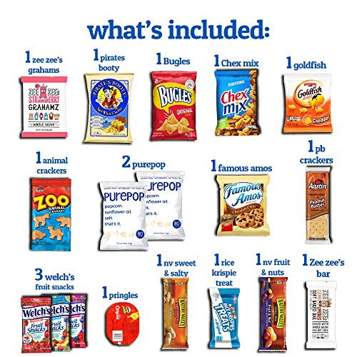 College Box Care Package (60 Count) Snacks Cookies Bars Chips Candy Ultimate Variety Gift Box Pack A - http://coolthings.us
