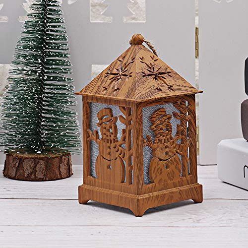 Christmas Decoration DIY Cabin Wooden Christmas Snow House with Light (B) by Coerni