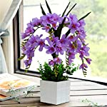 Mynse-Set-of-Artificial-Common-Freesia-Flowers-with-White-Vase-for-Indoor-Decoration-Artificial-Common-Freesia-Orchid-Flowers-Purple