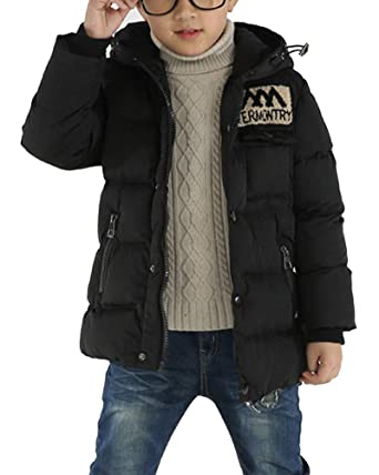 los angeles new images of complimentary shipping Boy's Thick Hooded Parka Kids Outwear Children Coat Jacket ...