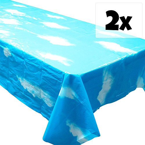 Sky Tablecovers (2), Sky Party Decorations, Sky and Clouds Background