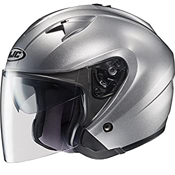 HJC Helmets 954-575 IS-33 Helmet (Light Silver, X-Large)