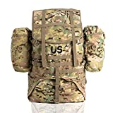 Akmax.cn Molle II Multicam Rucksack Backpack Assembly Large with Frame Shoulder Straps and Side Pouches