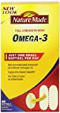 nature made omega 3 mini - Nature Made Super Omega-3 Fish Oil Full Strength Softgels, Mini, 60 Count (Pack of 3)