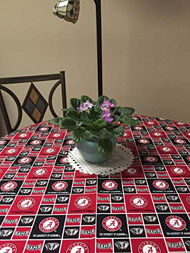 Licensed University of Alabama Tablecloth. 100% Cotton. Great for Graduation Parties, University Conferences, Office Parties, Collegiate Gatherings, or any display! Machine washable.