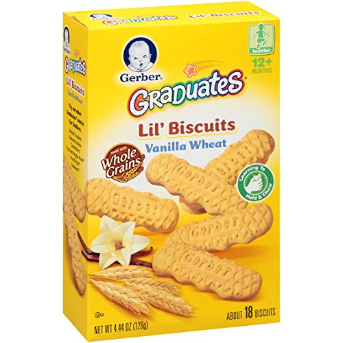 Gerber Graduates Biter Biscuits, 4.44-Ounce (Pack of 8)