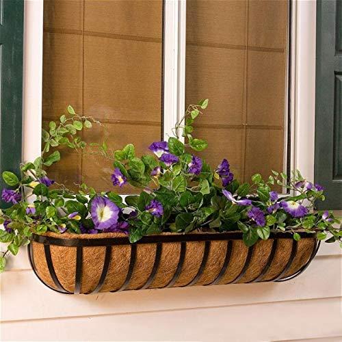 - Standard English Garden Iron Window Basket w/Coco Liner - 24 Inch