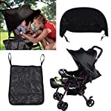 Universal Sunshade And Sunscreen Cover For Baby Car Advanced Style Black