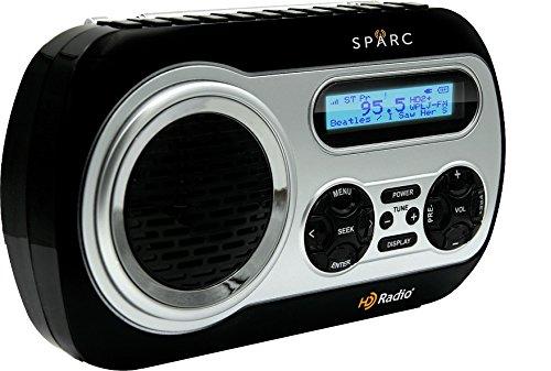 SPARC HD Radio SHD-TX2 Portable Radio with AM/FM & HD Radio Tuners, Built-in Speaker and Emergency Alerts