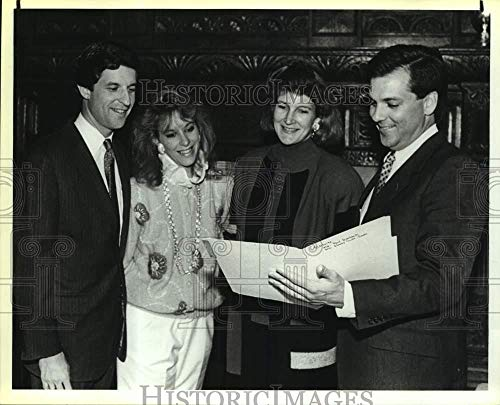 Vintage Photos 1989 Press Photo Bobby and Stephanie Cavender, Liza and Jack Lewis at Meeting