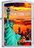 Zippo New York City Statue Of Liberty Skyline Chrome Lighter