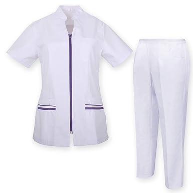 MISEMIYA Cojuntos Uniformes Sanitarios Camisa Y Pantalón Traje médico para Mujer