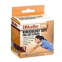Mueller Kinesiology Tape (Beige) Pre-Cut Strips ((1 Roll; 20 Strips))