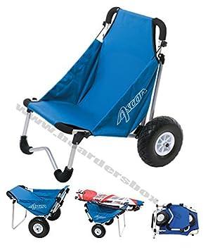 Carretilla de transporte de playa Board Buggy Ascan + Asiento: Amazon.es: Deportes y aire libre