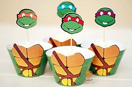 Envoltura y adorno de cubierta de las Tortugas Ninja para ...