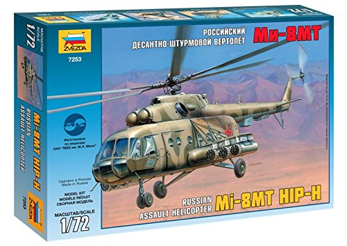 ZVEZDA 7253 MIL MI-8MT HIP-H MODEL KIT 1/72 RUSSIAN ASSAULT HELICOPTER