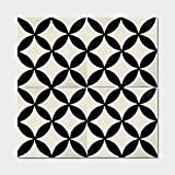Moroccan Mosaic Pack of 12 Amlo Circle Handmade Cement and Granite 8-inch x 8-inch Floor and Wall Tile (Morocco)